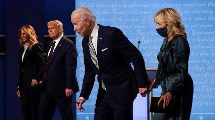 Wer gewinnt die US-Wahl 2020: Donald Trump (l.) oder Joe Biden? (cam/spot)