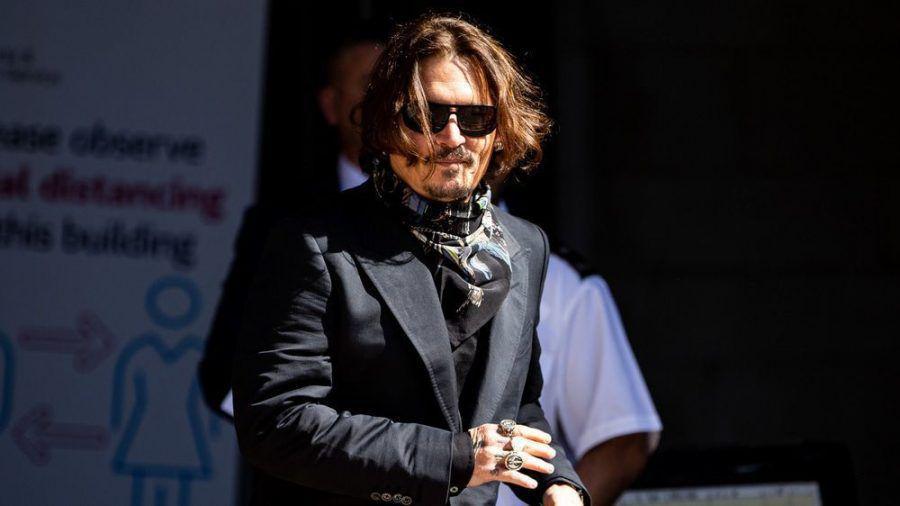 Johnny Depp im Sommer vor einem Gerichtstermin in London (hub/spot)
