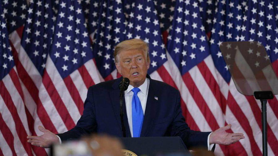 Donald Trump in der Wahlnacht im Weißen Haus. (cam/spot)