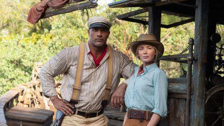 "Dwayne Johnson und Emily Blunt in Disneys ""Jungle Cruise"". (cam/spot)"