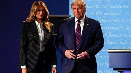 Melania und Donald Trump bei einem gemeinsamen Auftritt im September. (hub/spot)