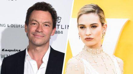 Sind Dominic West und Lily James mehr als nur Filmpartner? (cos/spot)
