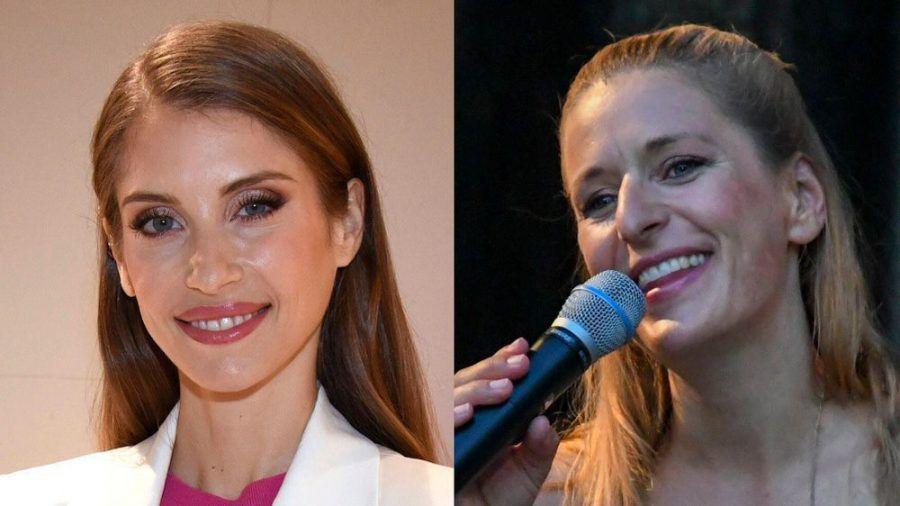 """Cathy Hummels (l.) tritt bei """"Schlag den Star"""" gegen Stefanie Hertel an. (dr/spot)"""