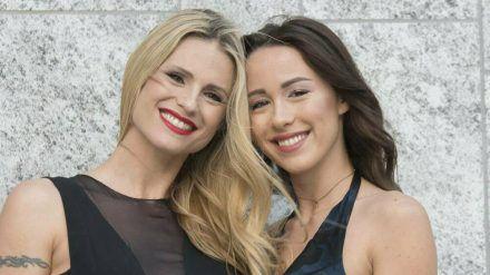 Michelle Hunziker und Tochter Aurora Ramazzotti bei einem gemeinsamen Auftritt im Jahr 2018. (cos/spot)
