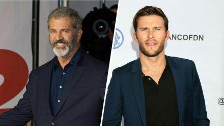 Mel Gibson (l.) und Scott Eastwood drehen einen Actionfilm zusammen. (stk/spot)