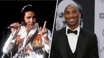 Elvis Presley verstarb bereits vor über 43 Jahren, Basketballer Kobe Bryant nicht einmal vor einem Jahr. (stk/spot)