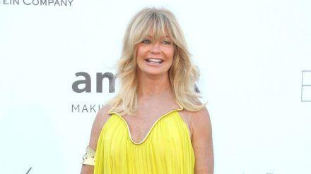 Goldie Hawn kommt aus dem Strahlen nicht heraus. (eee/spot)