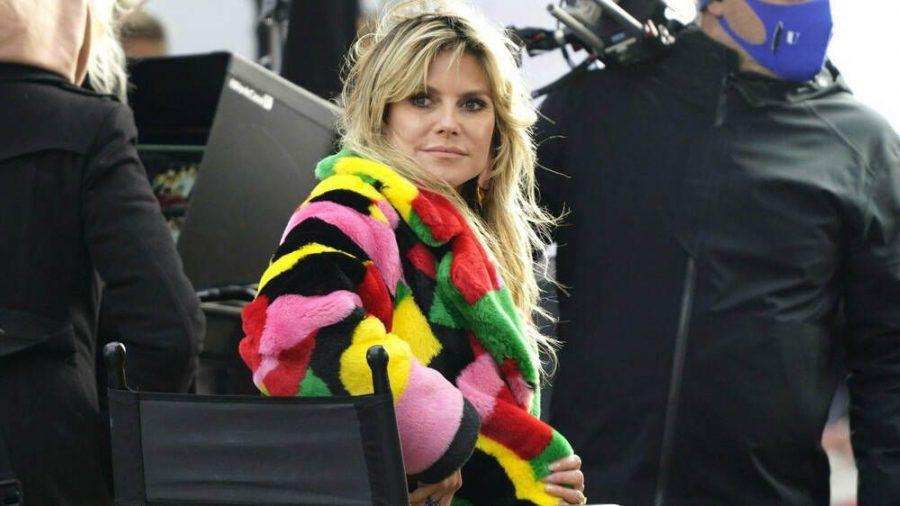 "Heidi Klum dreht in Berlin für ""Germany's next Topmodel"". (cos/spot)"