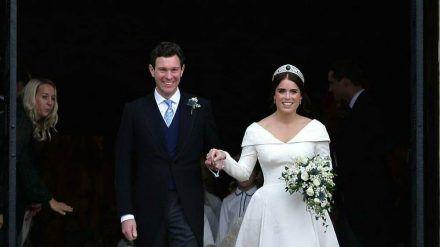 Prinzessin Eugenie und ihr Ehemann Jack Brooksbank während ihrer Hochzeit im Jahr 2018. (dr/spot)
