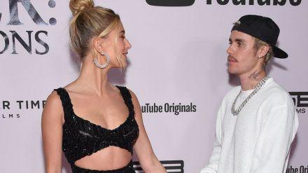 Hailey und Justin Bieber bei einem gemeinsamen Auftritt in Los Angeles (hub/spot)