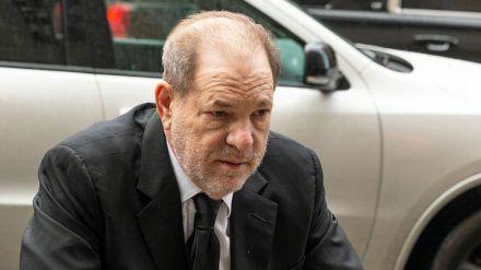 Harvey Weinstein bei seinem Prozess in New York (hub/spot)