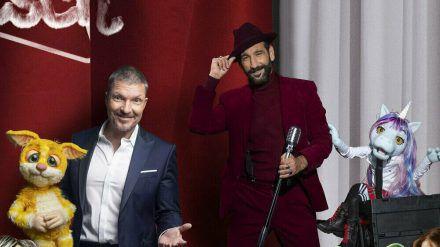 Hardy Krüger jr. (r.) und Massimo Sinató werden mit Puppen auf der Bühne singen. (jom/spot)