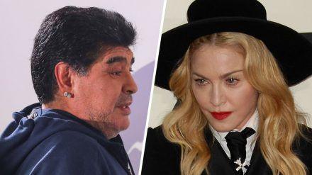 Twitter-Nutzer verwechseln Diego Maradona und Madonna. (cos/spot)