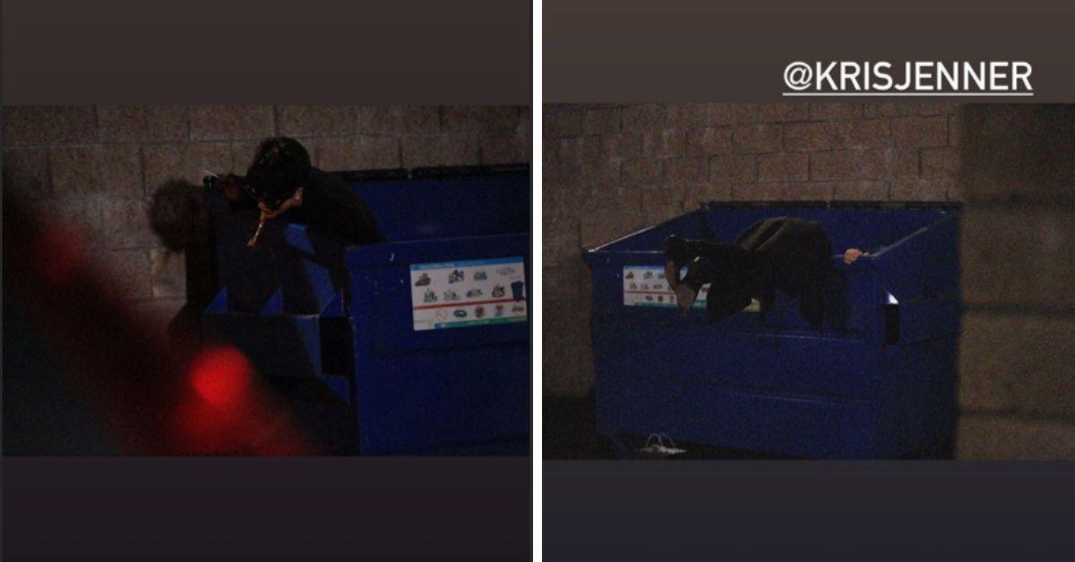 Kris Jenner kotzt aus der Mülltonne