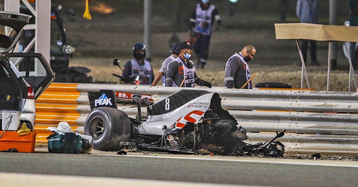 Romain Grosjean nach 27 Sekunden im Feuer: Gattin mit emotionaler Botschaft