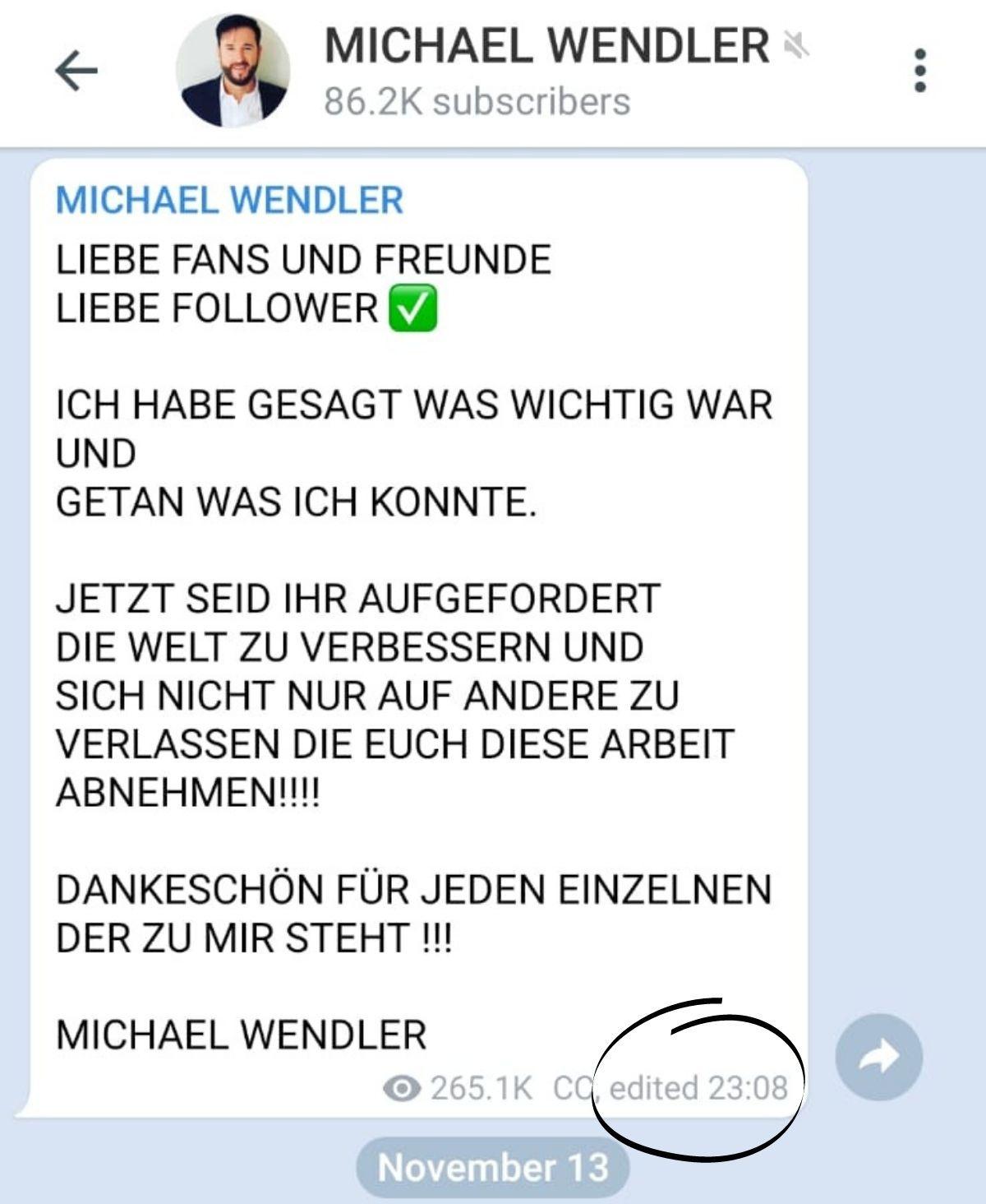 """Michael Wendler sind seine Versprechen """"EGAL""""!"""