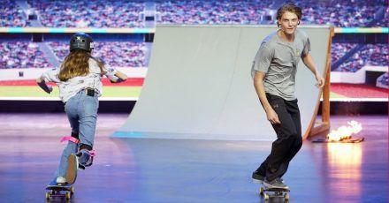 Lilly und Tyler: Deutschlands größte Skateboard-Talente bei Gottschalk