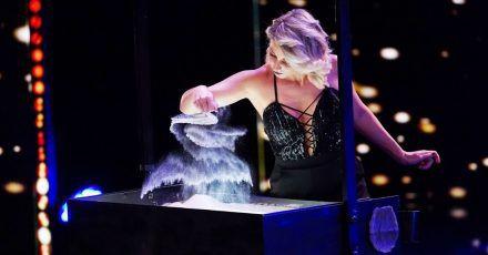 """Das Supertalent"": Sandmalerin Kelly Huesca will ins Finale"