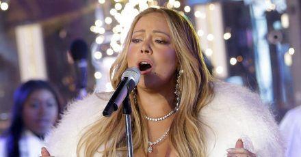 Mariah Carey bei der Silvesterfeier 2018 auf dem Times Square.