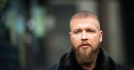 Der Rapper Kollegah, mit bürgerlichem Namen Felix Blume, nach seinem Freispruch vor dem Amtsgericht.