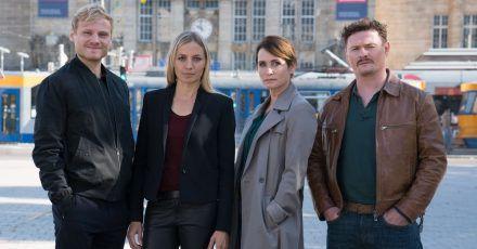«Das Quartett» ermittelt wieder (l-r): Linus Roth (Anton Spieker), Pia Walther (Annika Blendl), Maike Riem (Anja Kling) und Christoph Hofherr (Shenja Lacher).