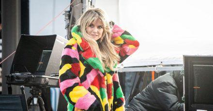 Heidi Klum bei den Dreharbeiten für eine neue Staffel von «Germany's next Topmodel» in Berlin.