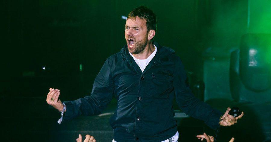 Damon Albarn, Sänger der britischen Popband Gorillaz, tritt 2018 in der Schweiz auf.