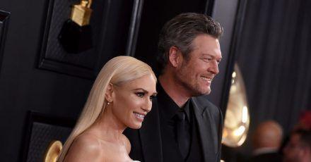 Gwen Stefani und Blake Shelton bei den  Grammy Awards im Staples Center.