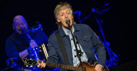 Sir Paul McCartney 2018 bei einem Konzert in Glasgow.
