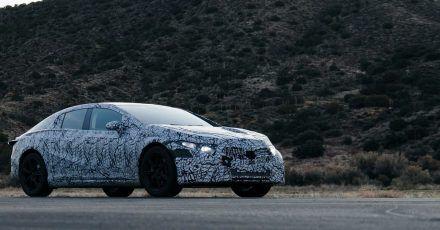 Der elektrische Gleiter: Mit dem EQS will Mercedes den Kunden eine Art elektrische S-Klasse anbieten.