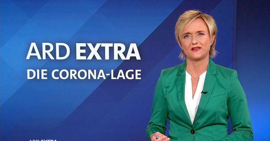 Ellen Ehni, Chefredakteurin des Westdeutschen Rundfunks (WDR), moderiert eine«ARD extra»-Sondersendung zur Corona-Lage.