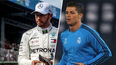 Lewis Hamilton und Cristiano Ronaldo sind an Covid-19 erkrankt. (eee/spot)