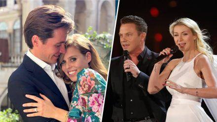 Von der Royal Wedding im kleinen Kreis bis zur kitschigen Schlager-Hochzeit im Fernsehen: Diese Paare heirateten 2020. (ncz/spot)