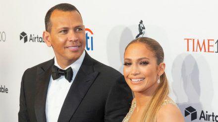 Jennifer Lopez mit ihrem Verlobten, Alex Rodriguez (wue/spot)