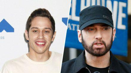 "Pete Davidson (l.) parodiert Eminems Song ""Stan"" (wue/spot)"