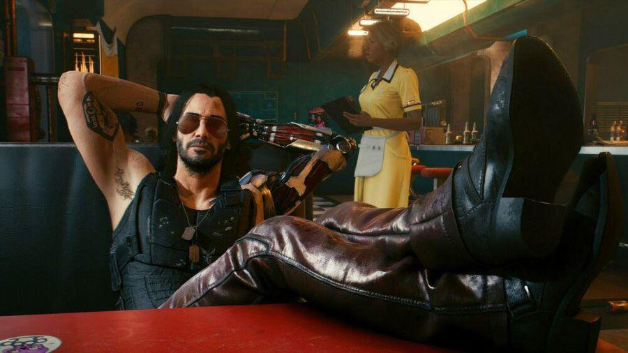 Keanu Reeves verleiht der Figur Johnny Silverhand Leben (wue/spot)