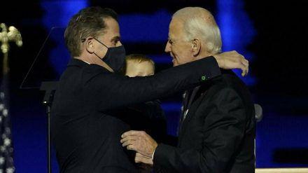 Der gewählte US-Präsident Joe Biden mit seinem Sohn Hunter. (wue/spot)