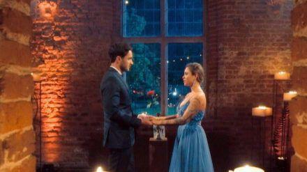 """Leander und Melissa im Finale der """"Bachelorette"""" (mia/spot)"""