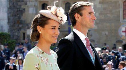 Pippa Middleton und James Matthews auf der Hochzeit von Prinz Harry und Herzogin Meghan. (jom/spot)