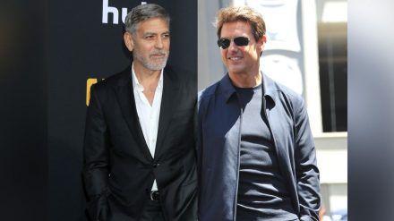 George Clooney (l.) steht Tom Cruise bei (hub/spot)