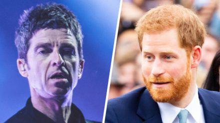 Noel Gallagher (l.) lässt kein gutes Haar an Prinz Harry. (cos/spot)