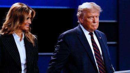 Melania Trump und Donald Trump im Oktober dieses Jahres. (jru/spot)