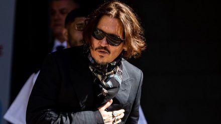 Johnny Depp im Juli vor dem Londoner Gericht. (elm/spot)