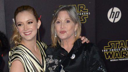 Carrie Fisher und Billie Lourd bei einem gemeinsamen Auftritt 2015 (hub/spot)