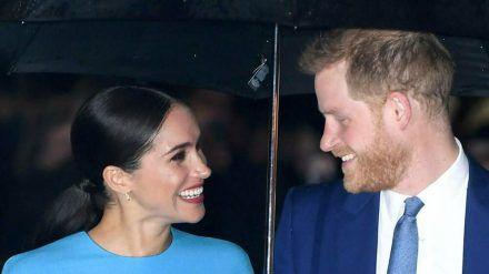 Prinz Harry und Herzogin Meghan strahlten bei einem ihrer letzten Auftritte in London. (hub/spot)