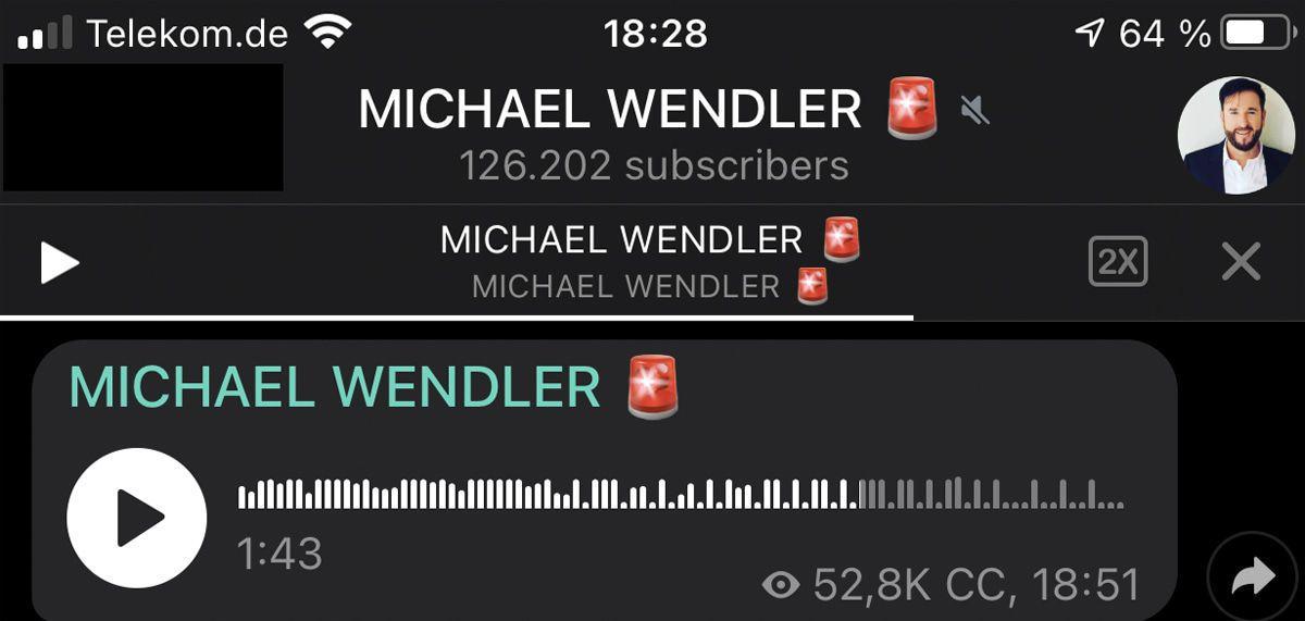 Hier meldet sich Michael Wendler, der Erlöser, aus der Gosse