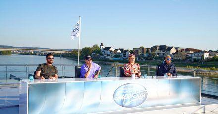 Die Jury von DSDS mit Michael Wendler (l-r), Mike Singer, Maite Kelly und Dieter Bohlen.
