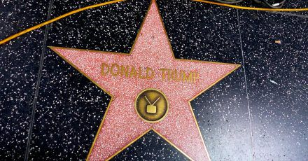 Der Stern von Donald Trump auf dem Hollywood Walk of Fame.