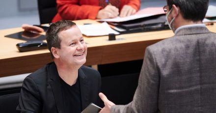 Klaus Lederer (Die Linke), Senator für Kultur, im Plenarsaal des Berliner Abgeordnetenhauses.