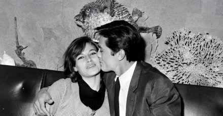 Alain Delon mit seiner damaligen Frau Nathalie 1967 in Paris.